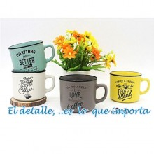 "Taza "" TIME FOR COFFEE "" Ref : 2696"
